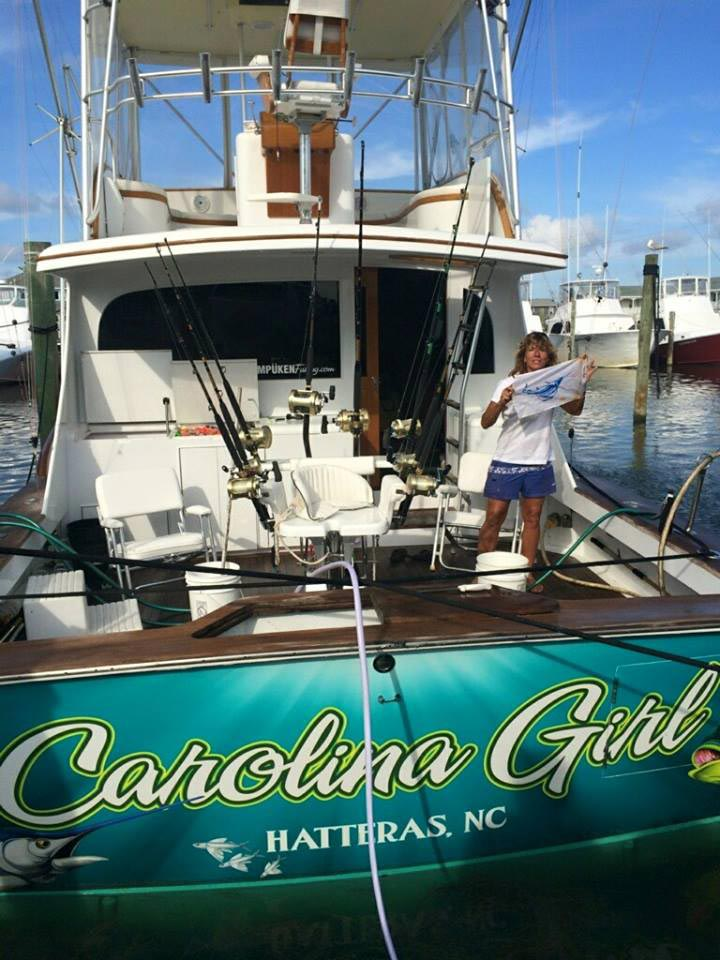 Outer banks offshore charter fishing with wicked tuna 39 s for Fly girl fishing charters